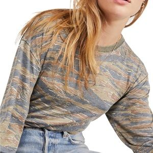 Free People Arielle Printed Knit T-Shirt